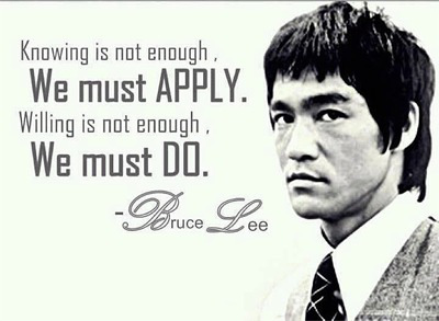 Bruce Lee Discipline Quote